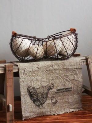 Shabby doek kip met kuiken 30x45cm