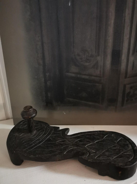 Oude slipper kapstok
