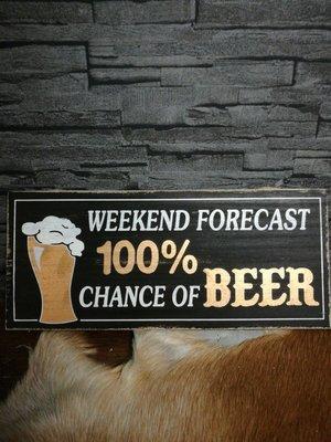 Tekstbord weekend beer