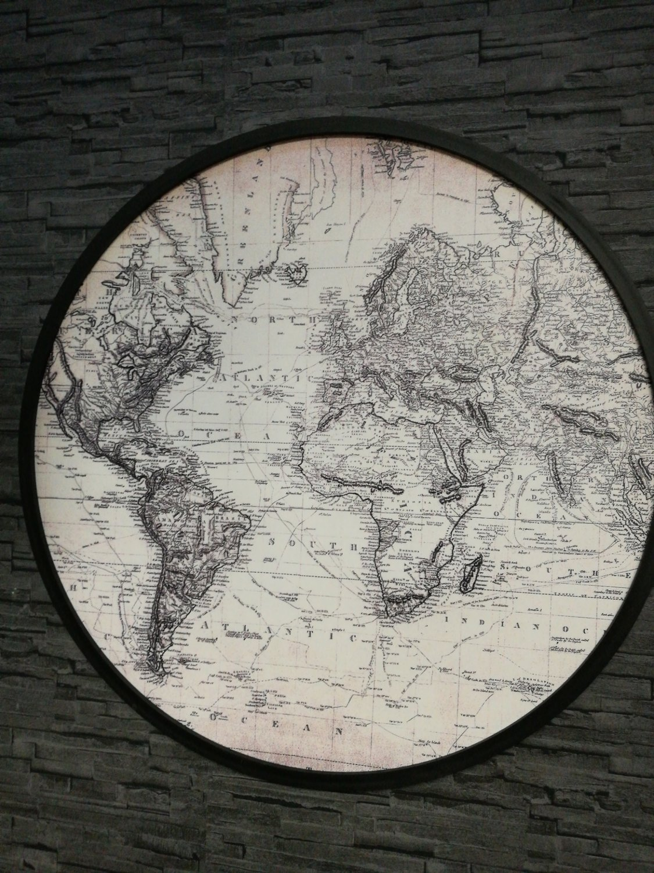 Wereldkaart rond