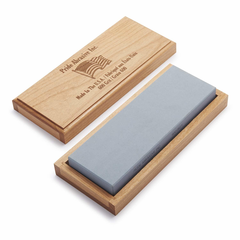 "Pride Abrasive Water Stone - 600 Grit - 8"" x 3"" x 1"""