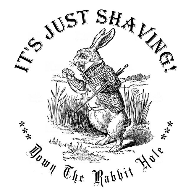 """It's Just Shaving """"Down The Rabbit Hole"""" - Coffee, Creme De Menthe - 2 oz. Soap + 2 oz. Aftershave Splash"""