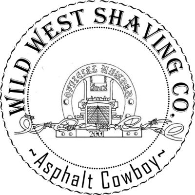 Asphalt Cowboy Shaving Soap - Sage, Fir, Pine, Juniper, Patchouli, Oak Moss, Spanish Moss, Fern, Tobacco, Smoke, Sea Salt, Menthol.