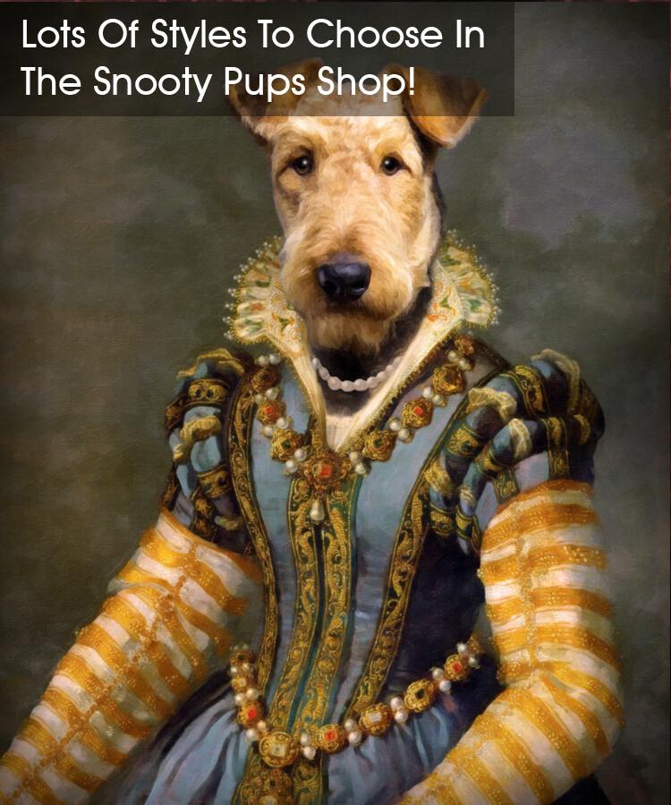Custom Dog Portrait - Renaissance