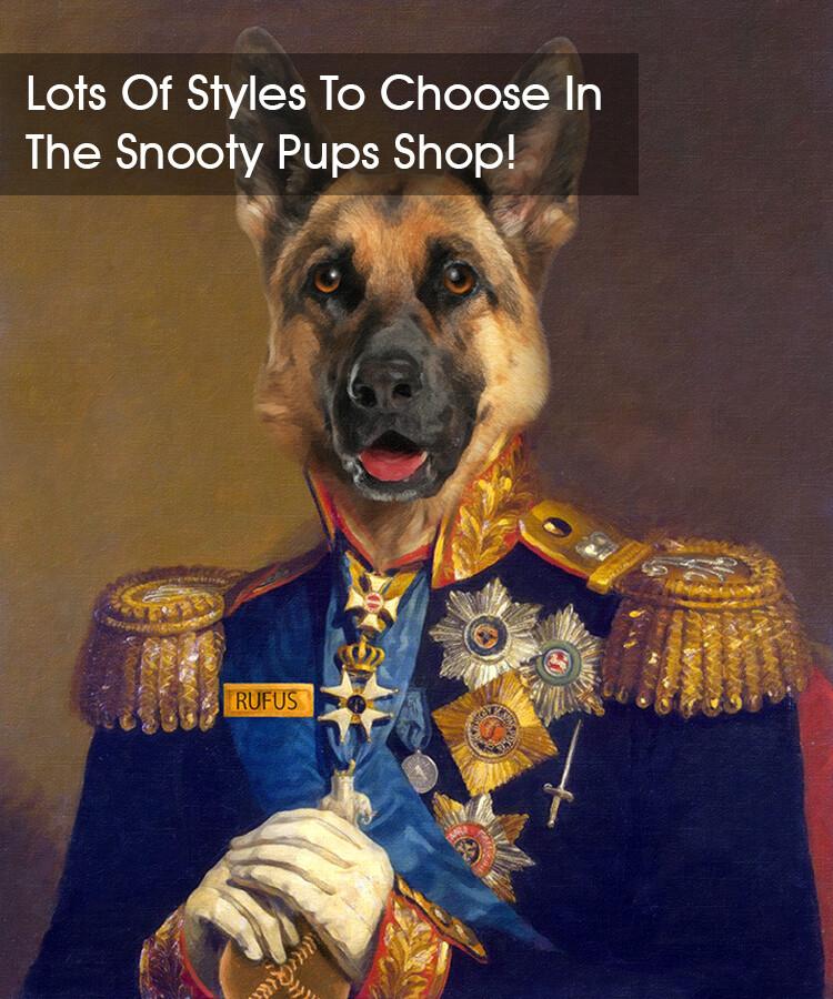 Custom Dog Portrait - Military
