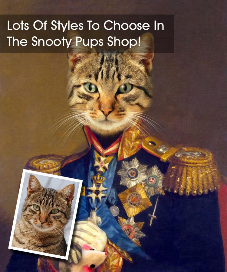 Custom Cat Portrait - Military