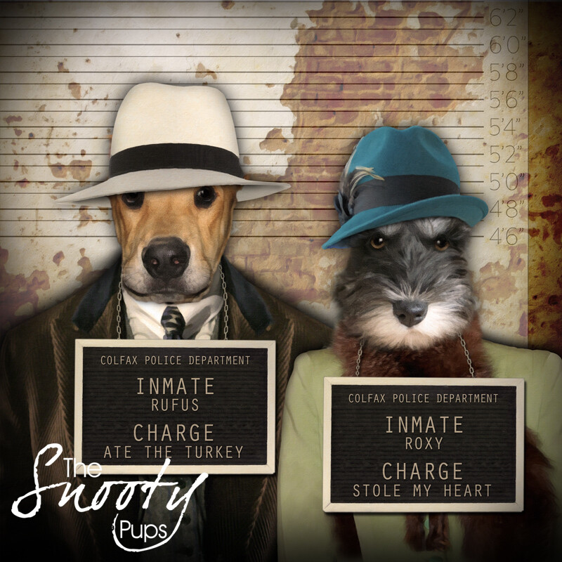 Custom Couple Pet Portrait - Mobster