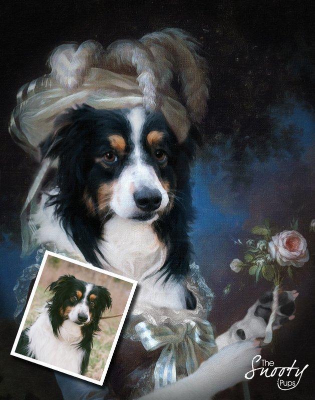 Custom Dog Portrait - Marie Antoinette