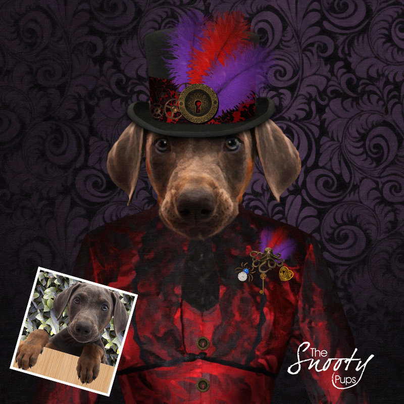 Custom dog Portrait - Steampunk