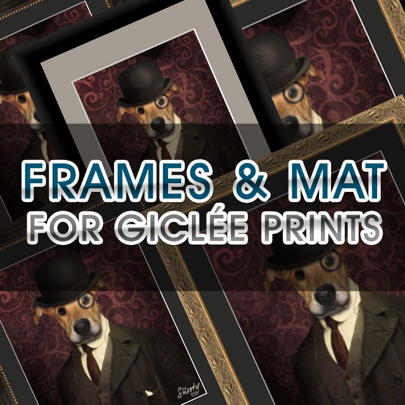 Frame & Mat Add-On For Giclée Print