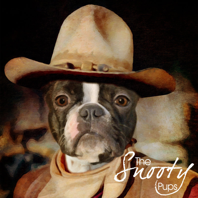 Dog Wayne Cowboy Custom Dog Portrait