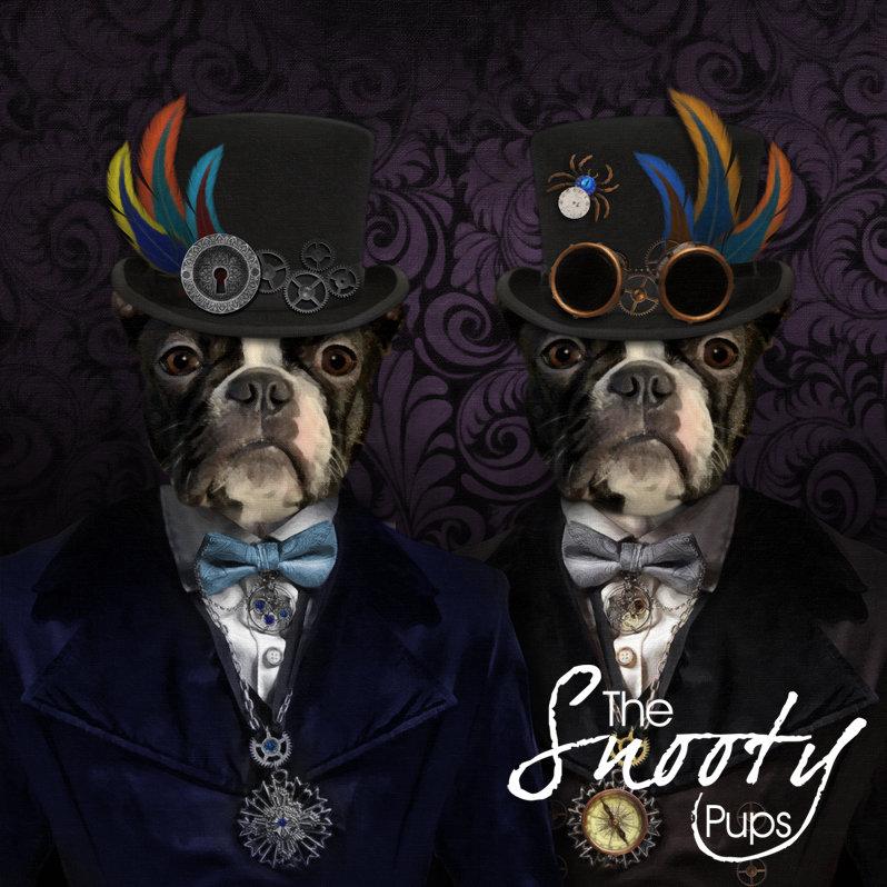 Custom  Pet Portrait - STEAMPUNK Male Couple