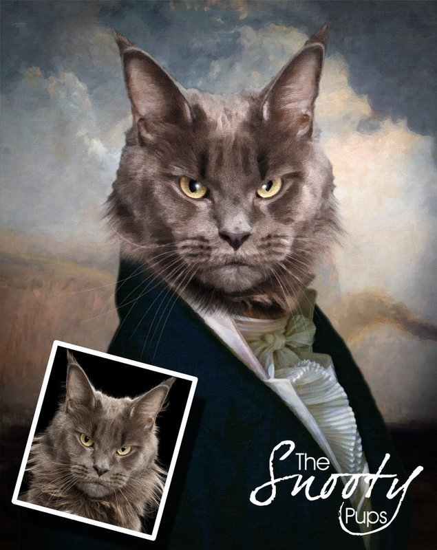 Custom Cat Portrait - Gentleman