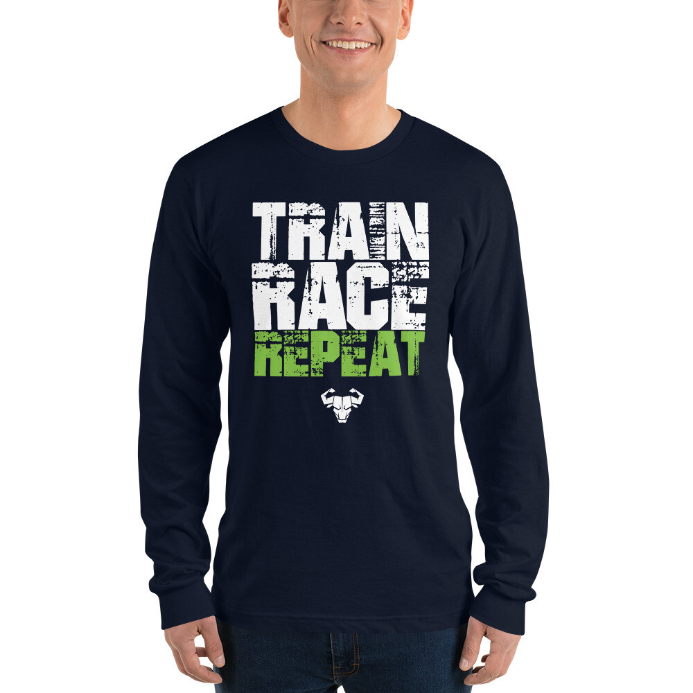 Men's Train. Race. Repeat. Long-Sleeve Tee