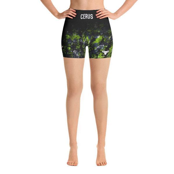 Black Ombre Yoga Shorts
