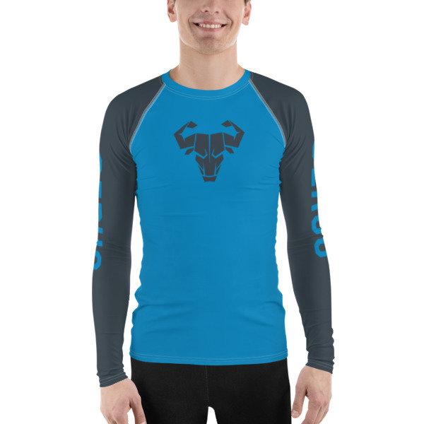 Men's Blue Long-Sleeve Tech Shirt