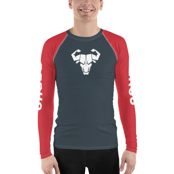 Men's Red Long-Sleeve Tech Shirt