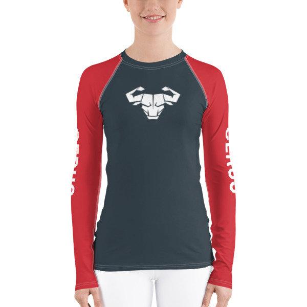 Women's Red Long-Sleeve Tech Shirt