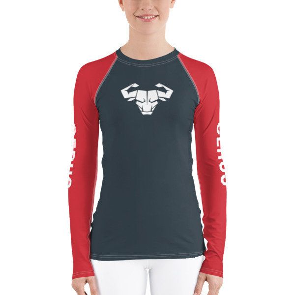 Women's Red Long-Sleeve Tech Shirt