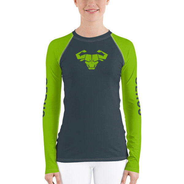 Women's Green Long-Sleeve Tech Shirt