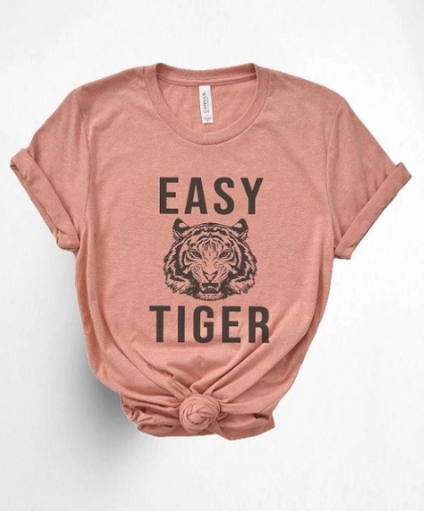 Easy Tiger Tee ~ sunset