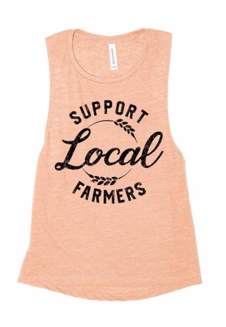 Support Local Farmers ~ light peach
