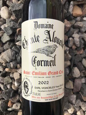Domaine Chante Alouette Cormeil, Saint Emilion Grand Cru, 2002