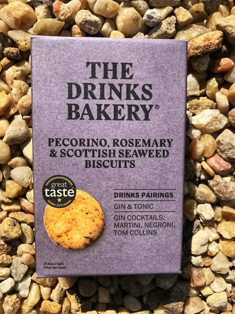 Drinks Biscuit by the Drinks Bakery - Pecorino, Rosemary and Seaweed - 24 pack.