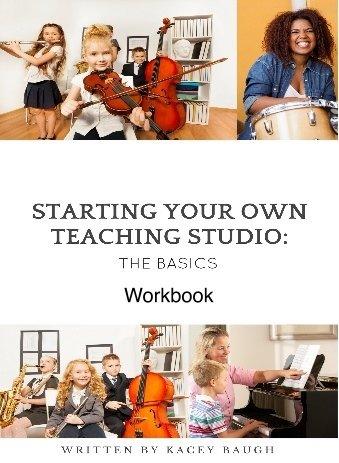 Workbook:  Starting Your Own Teaching Studio