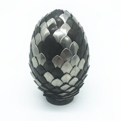Dragon Egg - Stainless steel & black steel