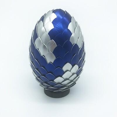 Dragon Egg - Blue & silver