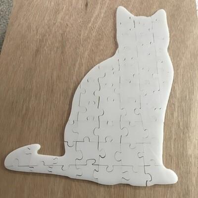 47 piece acrylic puzzle - cat shaped
