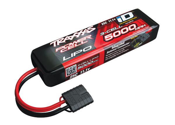 Traxxas 5000mAh 11.1V 3S 25C LiPo ID Battery - E-Revo, Slash, Spartan (155x25x45mm)