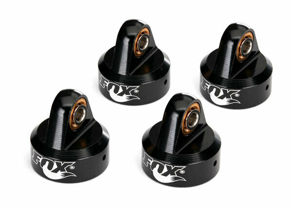 Unlimited Desert Racer Shock Caps, Aluminum (Black-Anodized), Fox® Shocks (4)