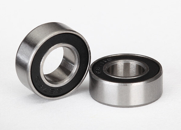 Ball Bearings, Black Rubber Sealed (7x14x5mm) (2)