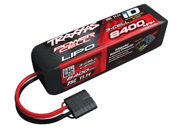 Traxxas 8400mAh 11.1V 3S 25C LiPo ID Battery (155x44x45mm)