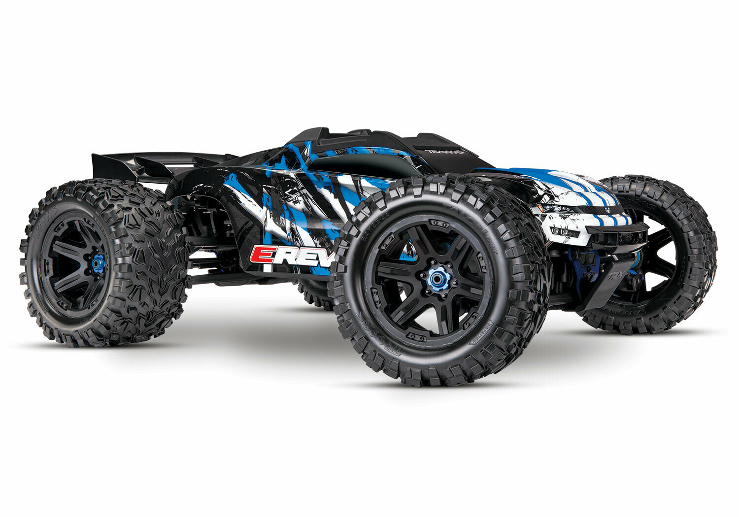 Traxxas E Revo 2.0 4WD Brushless Electric Racing Monster Truck (VXL-6S/TQi/Wireless Module/Motor Temp Sensor/2x3S 5000mAh/Dual Live iD Charger/Phone Mount)