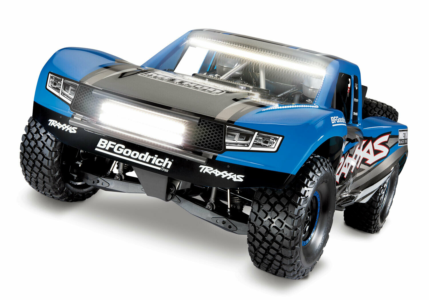 Traxxas UDR Unlimited Desert Racer Pro-Scale™ with LED Lights COMBO (VXL-6S/TQi/Wireless Module/Motor Temp Sensor/2x3S 5000mAh/Dual iD Charger/Phone Mount) - BLUE
