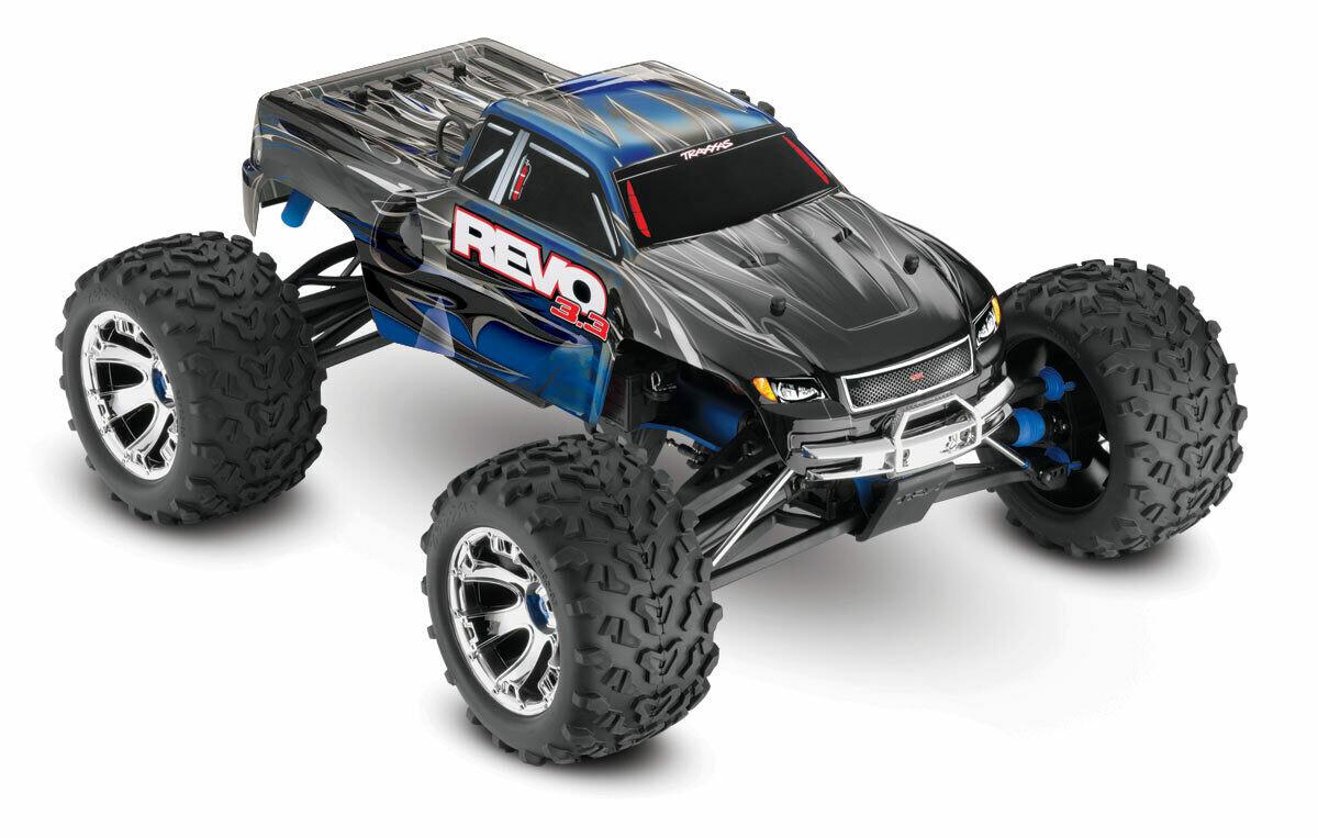 Traxxas Revo 3.3 w/rev TSM 1/10 (2.4GHz TQi Bluetooth/EZ Start) Nitro Powered Monster Truck