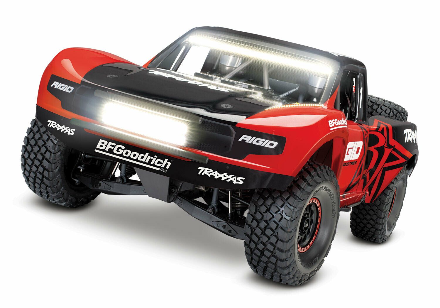 Traxxas UDR Unlimited Desert Racer Pro-Scale™ with LED Lights COMBO (VXL-6S/TQi/Wireless Module/Motor Temp Sensor/2x3S 5000mAh/Dual iD Charger/Phone Mount) - RED