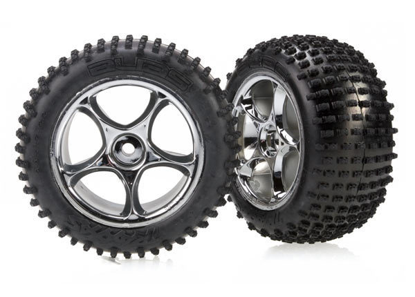 "Tires & wheels, assembled (Tracer 2.2"" chrome wheels, Alias 2.2"" tires) (2) (Bandit rear, medium compound with foam inserts)"