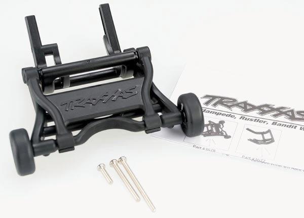 Wheelie Bar, assembled (Black) (fits Slash, Stampede, Rustler, Bandit series)