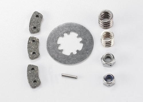 Rebuild kit, slipper clutch (steel disc / friction pads (3) / spring (2) / pin . 4.0mm NL (1) / 5.0mm NL (1))