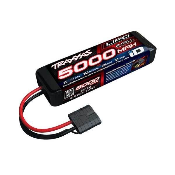 Traxxas 5000mAh 7.4V 2S 25C LiPo ID Battery (137x24x43mm)