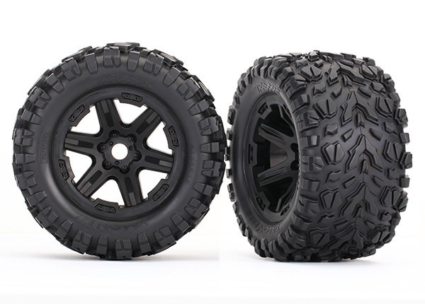 ERevo Tires & Wheels, Assembled (Black, Talon EXT Tires) (2) (17mm)