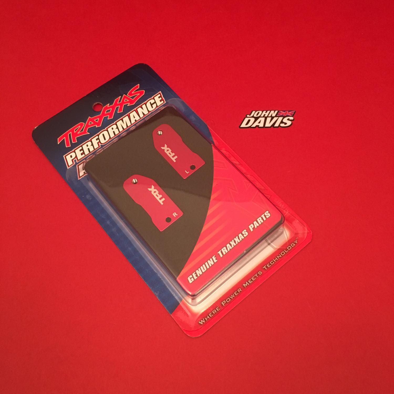 Caster Blocks, 30-Degree, Red-Anodized 6061-T6 Aluminum (Left & Right) / Suspension Screw Pin (2)