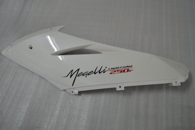 MEGELLI  FAIRING UPPER LEFT WHITE 82310-173C-0003-W