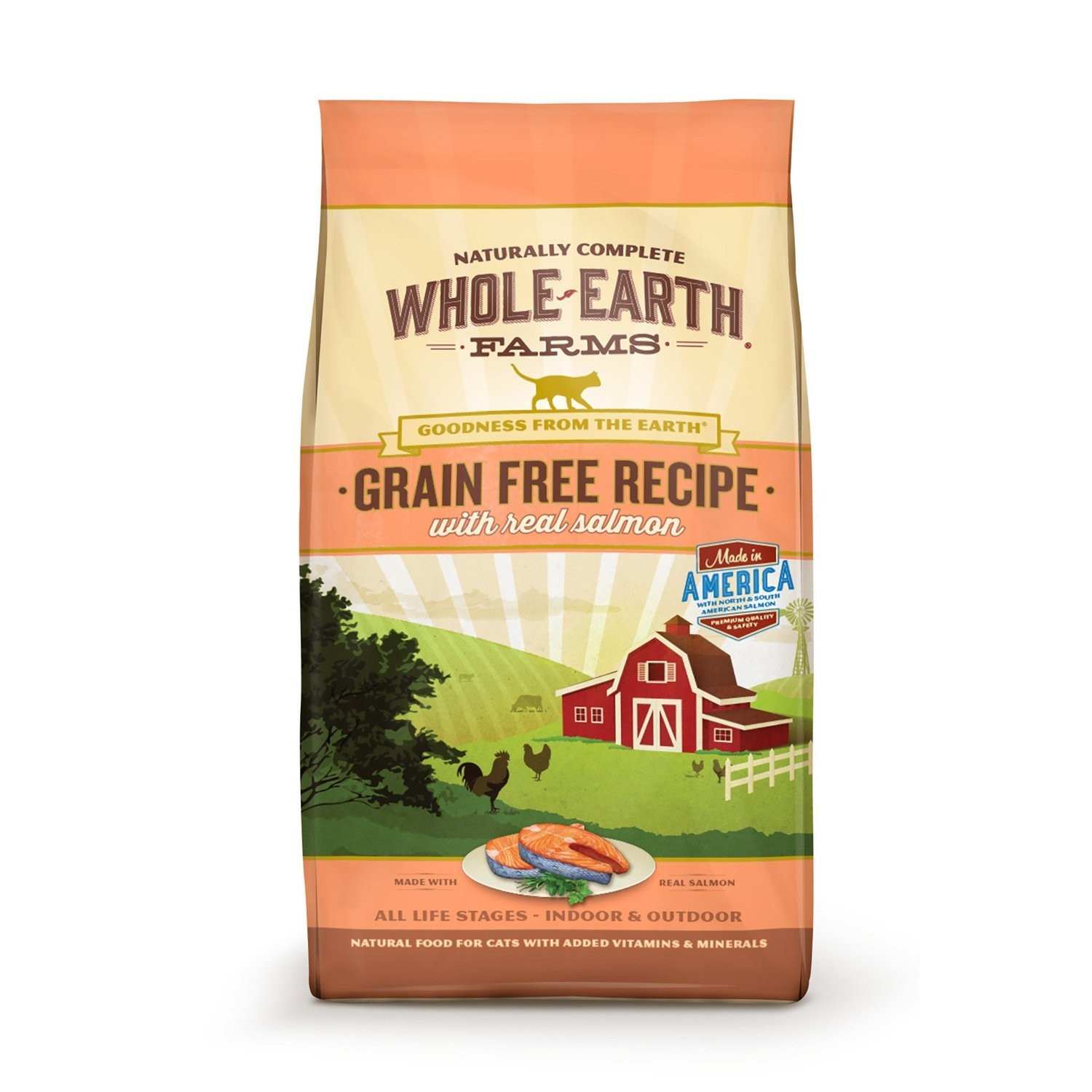 Whole Earth Farms Grain Free Real Salmon Cat Food, 2.5 lbs. (7/20) (A.I1)