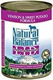 Natural Balance Venison & Sweet Potato Limited Ingredients Canned Dog Food 13 OZ 12 COUNT (5/19) (A.I4)