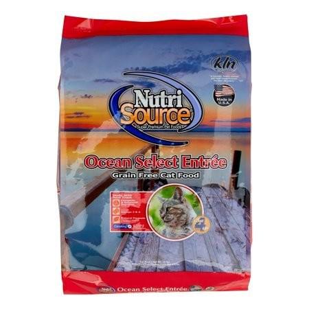 NutriSource Grain Free Ocean Select Entree Dry Cat Food 15-lb (5/19) (A.J1)
